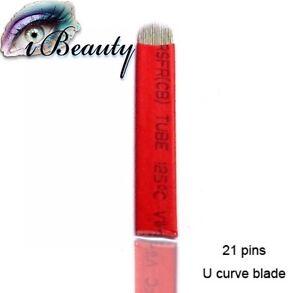 Microblading Nadeln 21er Blades U-Shape 10 Stück Permanent make-up Nadeln
