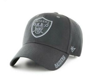 Las Vegas Raiders '47 Brand MVP Mens Adjustable Hat new nwt charcoal grey