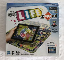 THE GAME OF LIFE ZAPPED EDITION Hasbro 8+ 2-4 Players (Use With Your iPad) VGC