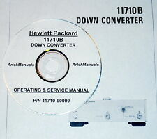 HP 11710B DOWN CONVERTER:Operating & Service Manual (Good Schematics)