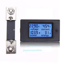 100A DC Digital Watt KWH Current Power Energy Meter Ammeter Voltmeter 7-100