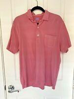 J. McLaughlin Short Sleeve Pink Golf Polo Shirt Men's Large