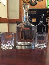 Nachtmann Aspen Crystal Decanter Set With Stopper And 2 Whisky Tumblers