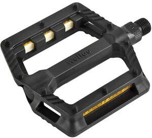 Wellgo 239 Plastic Platform Pedals 9/16 Black PD07