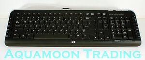 5 Lot Genuine HP PS/2 Multimedia Hot Keys Slim Black Keyboard English 5188-6077