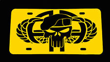 """82nd airborne Plastic License Plate +free deca l3"""" Skull """"Buy 2 get one Free"""""""