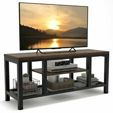 """59""""L Industrial Rustic Tv Stand Media Console Table with Shelves for Living Room"""