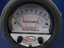 "Dwyer A3002 Photohelic Gauge 0 to 2"",  Used"