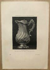 ▬► Collection Palais San Donato - Aiguière Argent Louis XV GRAVURE PUYLAT - 1883