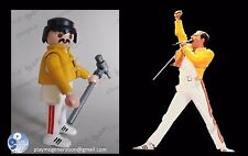 Playmobil CUSTOM FREDDIE MERCURY - QUEEN  vaqueros medieval piratas