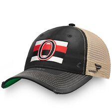 Mens Fanatics Black Ottawa Senators True Classic Washed Trucker Snapback Hat