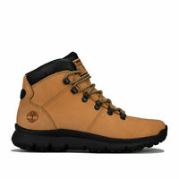 Mens Timberland World Hiker Mid Boots In Brown- Lace Fastening- Sensorflex�