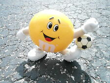 "NOS VINTAGE EUROPEAN EXCLUSIVE 7"" YELLOW M&M CANDY DISPENSER - SOCCER (S20)"