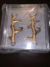 Pottery Barn Gilded Gold Antler Napkin Rings Set of 4