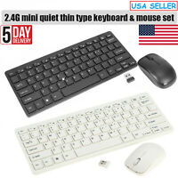 Ultra Slim Wireless Keyboard & 2.4Ghz Optical Mouse Combo For Pc Laptop,Mac USA