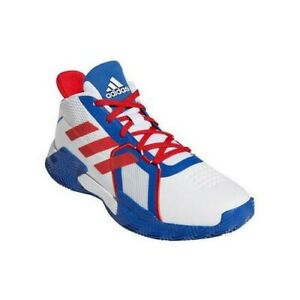 Adidas Court Vision 2 White Red Royal Blue Men's Size 10.5 Basketball Shoes