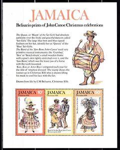 JAMAICA #416-418a MNH JOHN CANOE CHRISTMAS CELEBRATIONS SOUVENIR SHEET