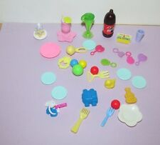 Happy Family & Barbie Doll parts pieces dishes accessories food small lot