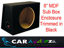 "8"" Inch 20 cm empty Round Black Carpeted Subwoofer MDF Box Bass Enclosure SALE!!"