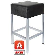 Barhocker Kaikoon schwarz/ silber Maße: 34 cm x 34 cm x 82 cm B1