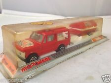 MAJORETTE 376 pompler Fire Rescue + remorque Scellé Made in France boxed