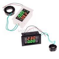 AC Digital Ammeter Voltmeter LCD Panel Amp Volt Meter 100A 300V 110V 220V US