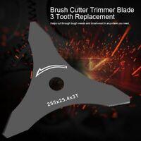 3 Tooth Brush Weed Cutter Metal Blade Brushcutter & Strimmer Blades