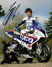 Guy Martin - 2015 Isle of Man TT Autographed 16 x 12 inch BMW Photograph.
