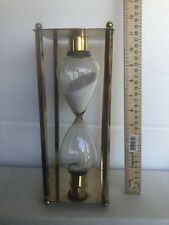 """Vtg  12"""" Sand Timer Clock Time Count Sandglass Hourglass for Home Table Decor"""