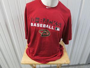 NIKE MLB ARIZONA DIAMONDBACKS BASEBALL TRAINING 3XL RED SHIRT NEW W/ TAGS