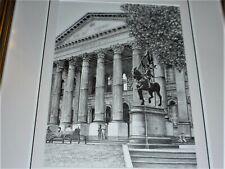 VINTAGE PENCIL DRAWING TITLED STATE LIBRARY MELBOURNE  SIGNED JOHN LEEDEN 2014