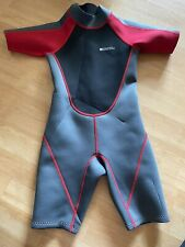 New listing Mountain Warehouse Kids Wetsuit Age 7/8 Red Charcoal