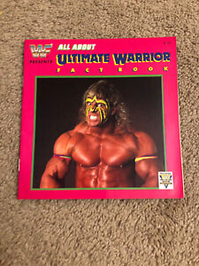 WWF Vintage All About Ultimate Warrior Fact Book Rare 1991 by Larry Humber NICE