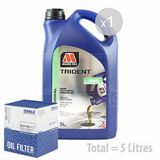 Engine Oil and Filter Service Kit 5 LITRES Millers TRIDENT 10w-40 5L