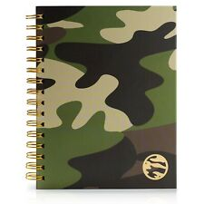 Undated Planner Hardcover - Daily, Weekly, Monthly a5- STICKERS, POCKETS.. Camo
