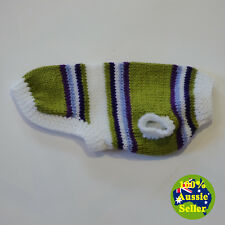Auzzie-Made Hand-Knitted Winter Dog Coat Jumper. Fits Small Dog S247