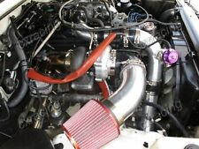 T4 T76 Turbo Intercooler Kit For Land Cruiser J80 1FZ-FE 1FZ 1FZFE Black