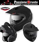Casco Caberg Tourmax nero opaco modulare enduro motard touring moto taglia L