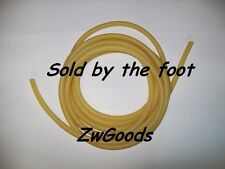 """1/8"""" I.D x 1/8"""" W x 3/8"""" O.D LATEX RUBBER TUBING AMBER SOLD BY THE FOOT"""