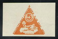 1934 Great Britain rocket mail stamp - Gerhard Zucker, London Apex - Ez 1B1