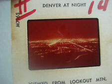 1960's - 70's Plastichrome Photo Slide - Denver At Night From Lookout MTN.