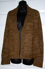 Kenji Brown Blend Cardigan Wool Sweater L