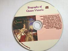 Biography of Queen Victoria Audio Book  Mp3 CD