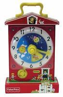 Kids Fisher Price Classics Music Box Teaching Clock #1698 Musical Teaches Time