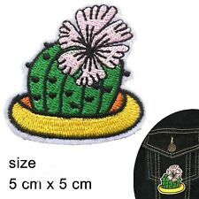 Cactus iron on patch Prickly desert plant flower tequila sting iron-on patches