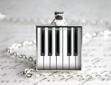 Piano Keys Pendant Charm or Keychain Piano Music Teacher Student Gift