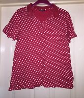 Arista Red + White Polka Dot Top, Size 10-12 - Fab!