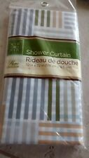 New Shower Curtain Plaid Striped Geometric Print Bathroom 70 in x 72