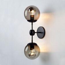 Modern Globe Wall Sconce Double Arms Glass Ball Wall Light Bubble Wall Lamp