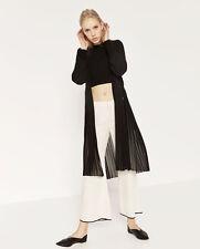 Keep black sheer striped long cardigan